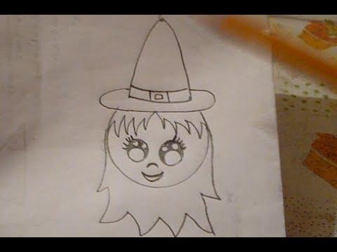 Dibuja Una Brujita Fácil Día De Muertos Halloween Youtube
