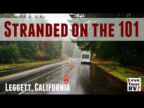 Stranded in the Rain on Highway 101 in Northern California