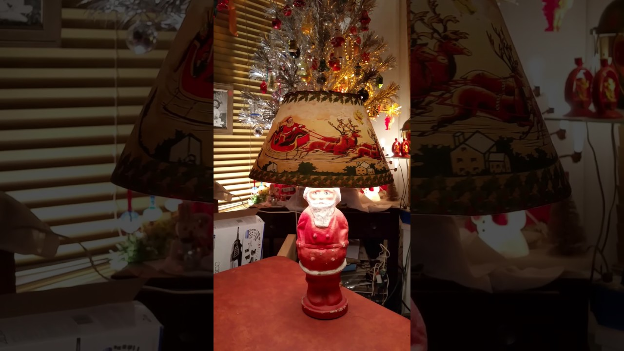 Unger Cellupon Santa Claus Lamp With Spinning Lamp Shade