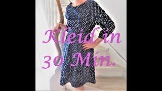 Kleid nähen in 30 Minuten - OHNE SCHNITTMUSTER - für Anfänger