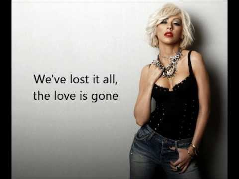 Christina Aguilera  - You Lost Me with lyrics on screen
