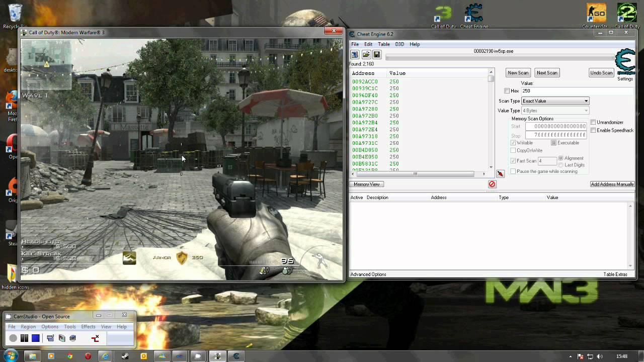 MW3 SP God Mod using Cheat Engine