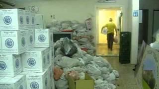 Hebron - Hasdei Avot -Distribution des colis de Pessah