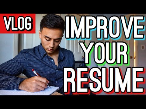 how to improve your resume over the summer premed prehealth focused