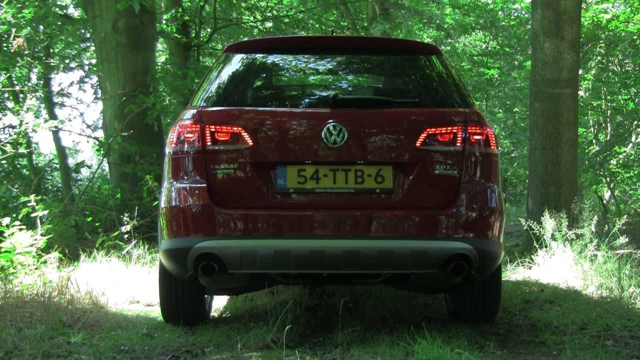 volkswagen passat alltrack  tsi dsg revving interior engine exhaust youtube