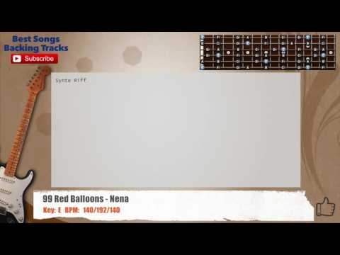 99 Red Balloons - Nena Guitar Backing Track with chords and lyrics