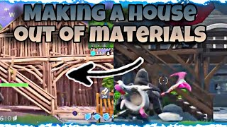 Getting A House And Replacing It With Materials With My Cousin / Fortnite Battle Royale