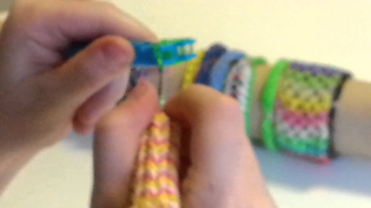 Rainbow loom flat armbånd episode 3. - YouTube