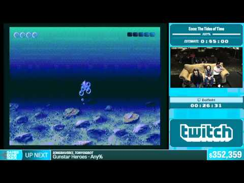 Ecco: The Tides of Time by Dolfinh in 41:00 - Summer Games Done Quick 2015 - Part 75