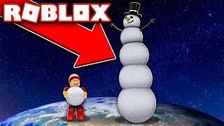 CLIMBING THE GIANT ROBLOX SNOWMAN ☃️ → Snowman Simulator 🎮