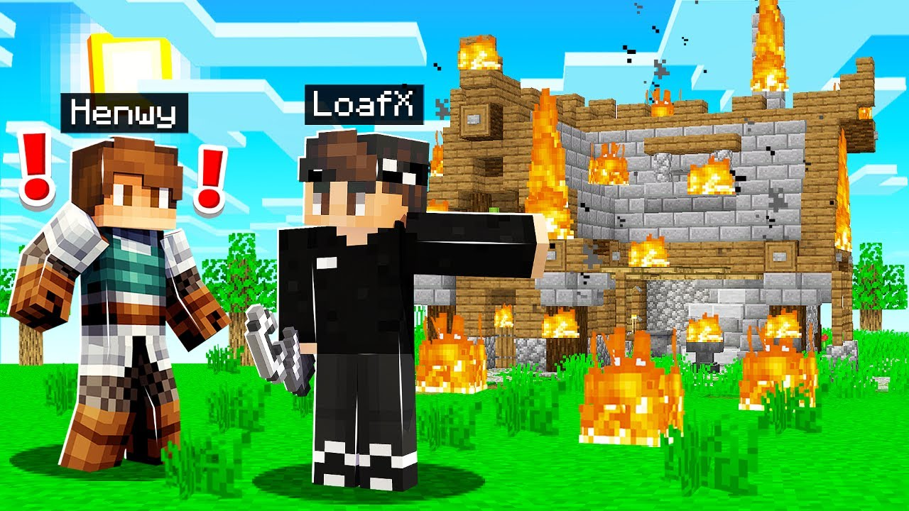 SETTING FIRE TO MY FRIENDS HOUSE in Camp Minecraft!