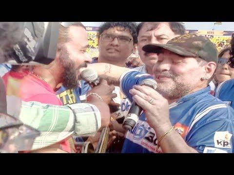 Rockstar Maradona singing in Kolkata   Maradona   Diego vs Dada