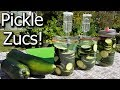 Fermenting or Pickling Zucchini in My Outdoor Kitchen - How to