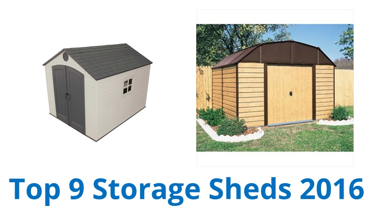 9 Best Storage Sheds 2016