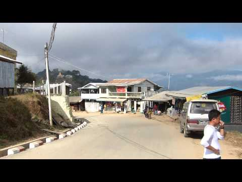 Main Road In Mindat, Chin State