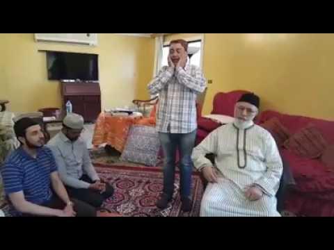 Faiz Alam Qadri reciting azan in presence of Huzoor Shaykh-ul-Islam