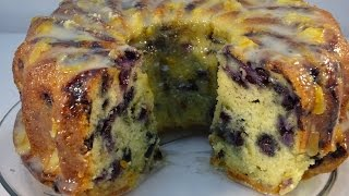 Blueberry Yogurt Pound Cake With Marmalade Yogurt Glaze - With Yoyomax12