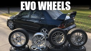 Every EVO Wheel Option [OEM - USDM] - Mitsubishi Lancer EVO 8/9 OEM wheels