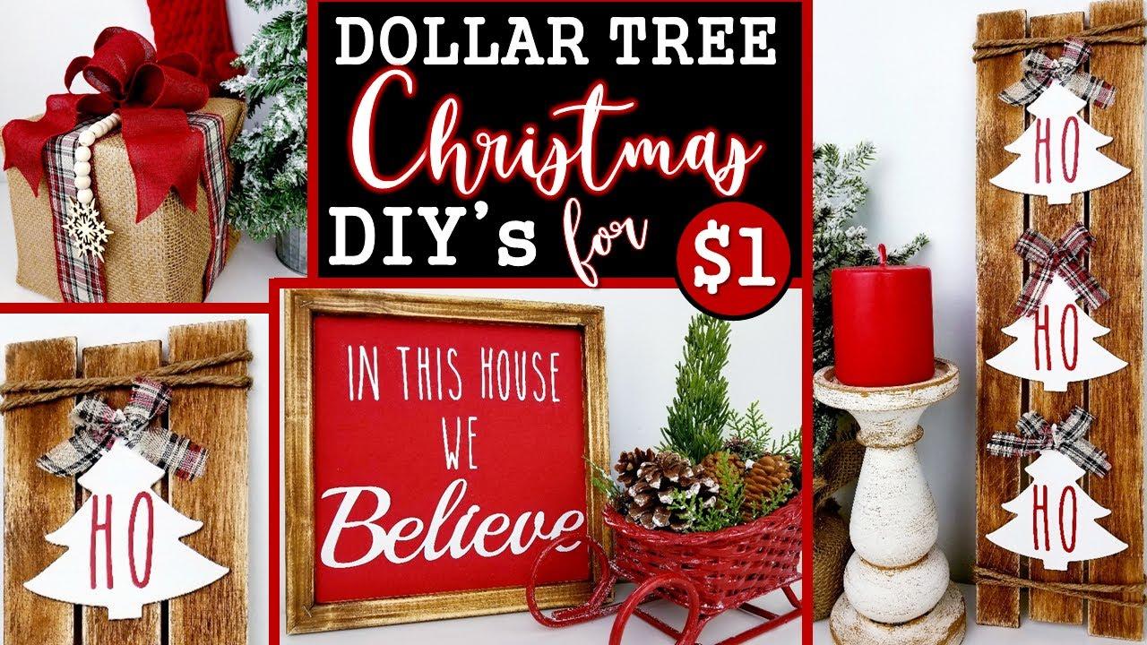 CHRISTMAS DECOR IDEAS 2020   Dollar Tree Christmas DIY's on a Budget