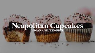 Neapolitan Cupcakes // vegan + gluten-free