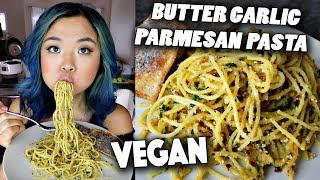 VEGAN PARMESAN SPAGHETTI (My NEW GO TO RECIPE!!) // Cook With Me!