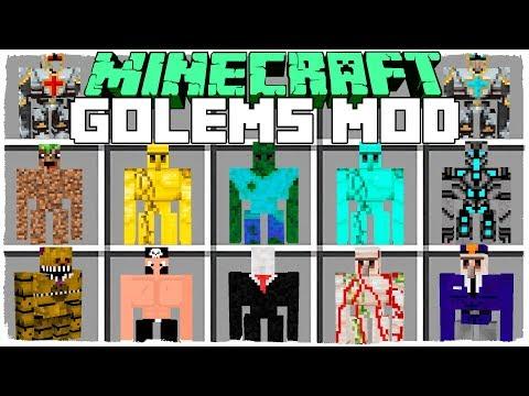 MINECRAFT MORE GOLEM MOD - CRAFT GOLEMS TO SURVIVE THE ZOMBIE APOCALYPSE! - MINECRAFT MODS