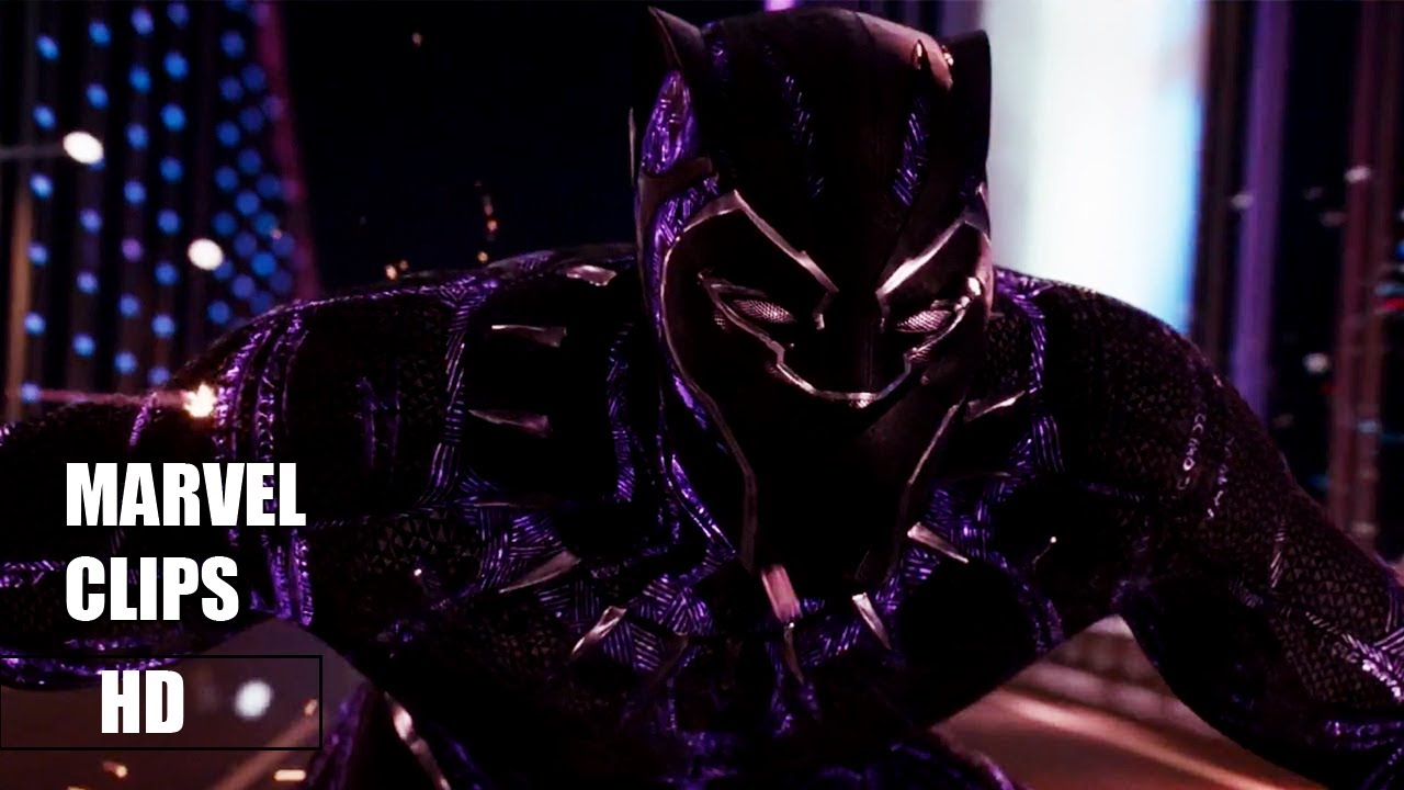 Download MarvelClips Black Panther  -  Kinetic Energy Scene  -  Movie Clip