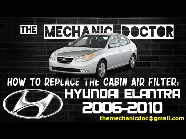 How To Replace The Cabin Air Filter Hyundai Elantra 20062010 10 Rhinstructables: Hyundai Elantra Cabin Air Filter Location At Gmaili.net