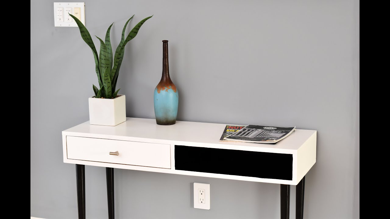 How To Make A Mid Century Modern Accent Table   DIY Build ...