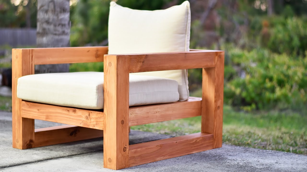 diy modern outdoor chair youtube rh youtube com  how to make wooden pallet outdoor furniture