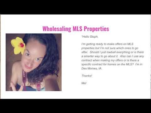 Wholesaling MLS Properties