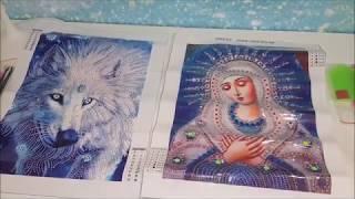 Обзор Алмазной мозаика с Aliexpress. Волк и икона Умиление по доступной цене.