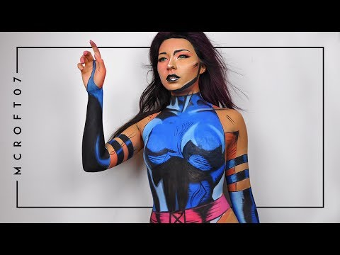 PSYLOCKE BODY PAINT TIME LAPSE