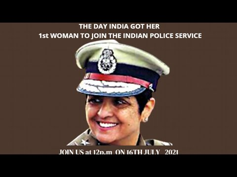 """""""The Journey of India's first woman IPS officer- Dr. Kiran Bedi"""""""