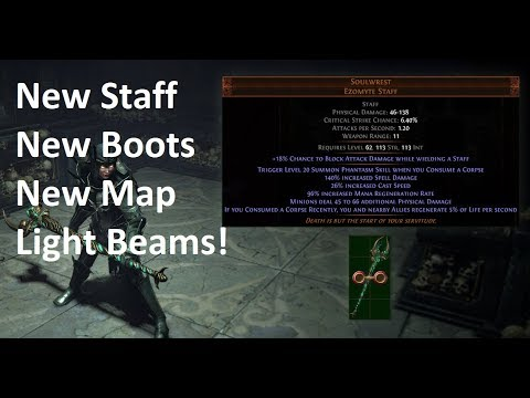 New Unique Boots Unique Summoner Staff New Unique Map Light Beams 8 Days Till Delve Youtube A list of all the unique boots in path of exile with all the stats, properties, mods, and requirements. youtube