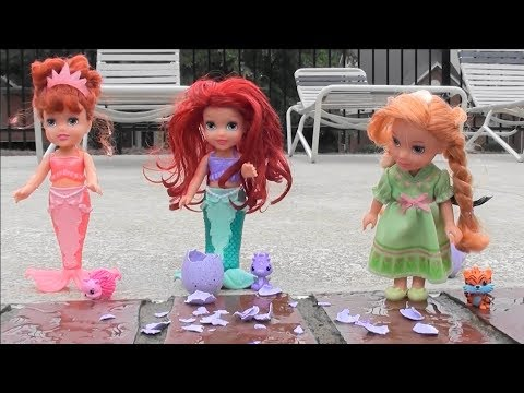 Princess Story: Little Mermaid Ariel, Mermaid Athena, Frozen Anna and Elsa, Mermaid Toys, Hatchimals