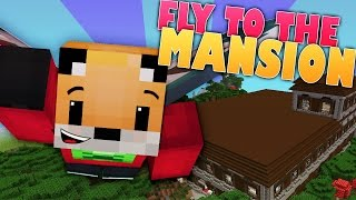 Minecraft Survival | FLYING TO THE MANSION | Foxy's Survival World [105]