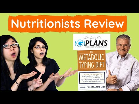Nutritionists Review G-Plans and Metabolic Typing Diet