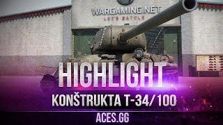 Konštrukta T-34 -100 Чешские танки в World of Tanks