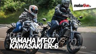DUEL | YAMAHA MT-07 vs KAWASAKI ER6 - Choix difficile !
