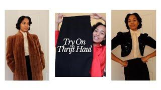 Try On Thrift HAUL 1930s 1940s Inspired