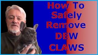 Dew claw removal