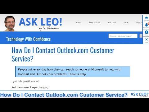 How Do I Contact Outlook.com Customer Service?