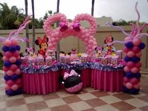 Decoraci n con globos para fiestas infantiles youtube for Decoracion de fiestas