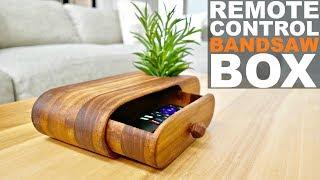 Bandsaw Box for Remote Control Storage