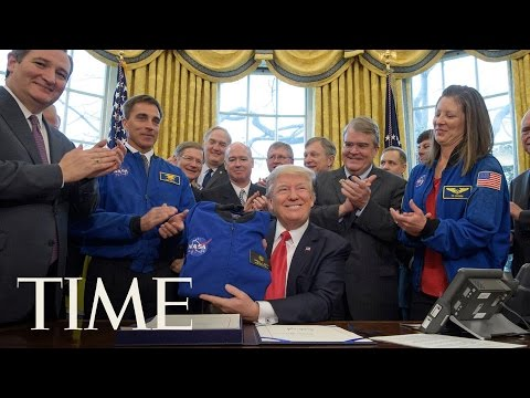 President Trump Signs Bill Authorizing NASA Funding & Mars Exploration | TIME