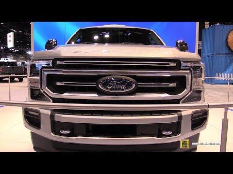 2020 Ford F350 Super Duty Platinum - Exterior Interior Walkaround - Debut at 2019 Chicago Auto Sho