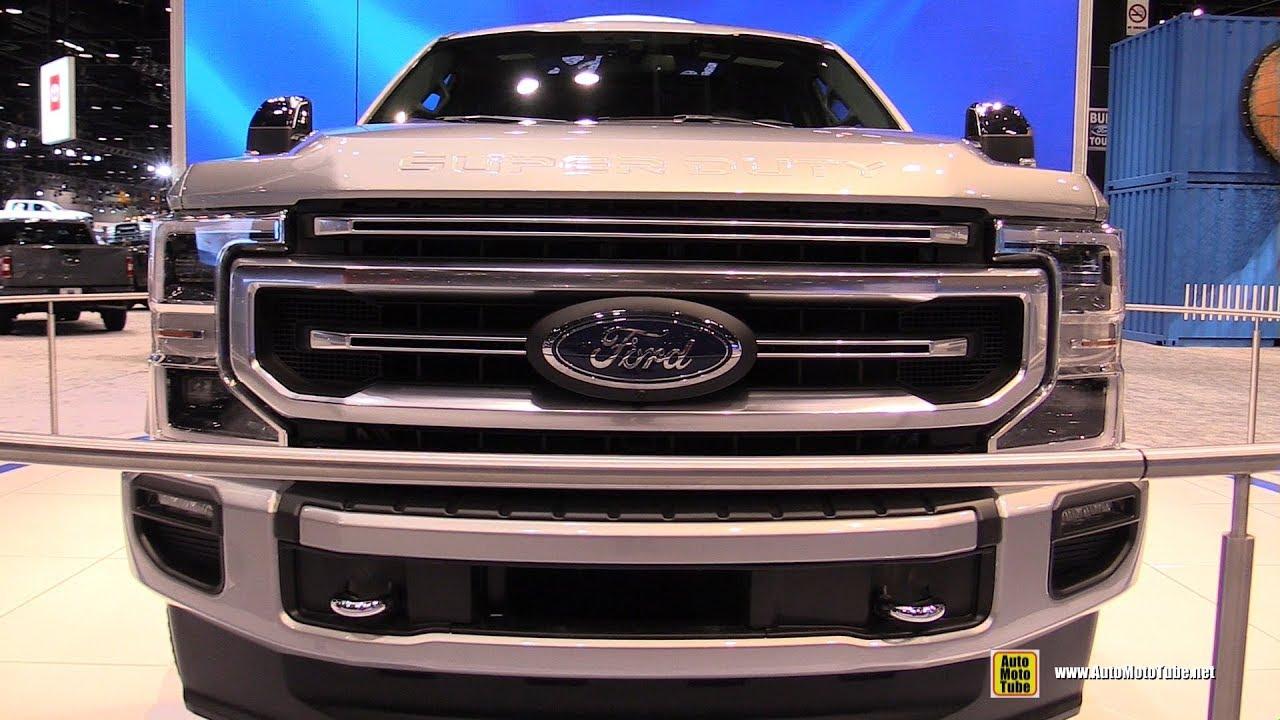 ford  super duty platinum exterior interior walkaround debut   chicago auto