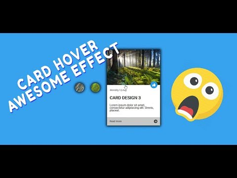 Card Hover beautiful effect | HTML, CSS, jQuery thumbnail
