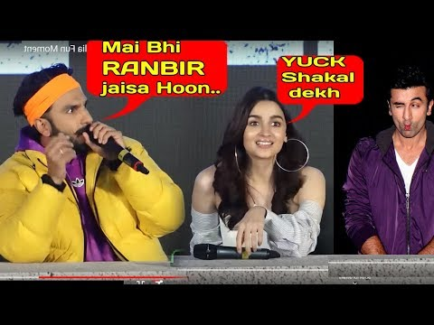 Gully boy Ranveer Singh's craziest Fun Moment at Trailer Launch.teases ALLIA BHATT OVER RANBIR